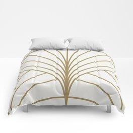 Diamond Series Floral Burst Gold on White Comforters