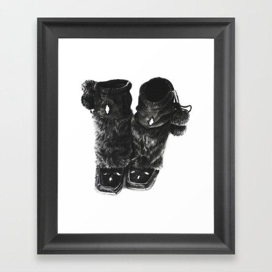Mukluks Framed Art Print