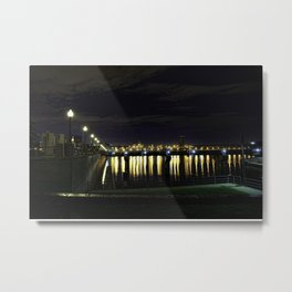 Lights Dying in the Water Metal Print