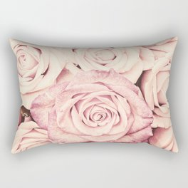 Some people grumble I Floral rose roses flowers pink Rectangular Pillow