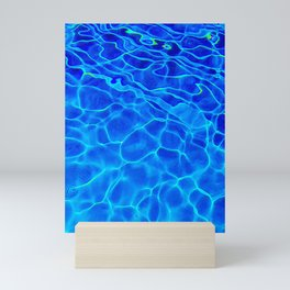 Blue Water Abstract Mini Art Print