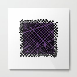 Barcelona map violet ext Metal Print