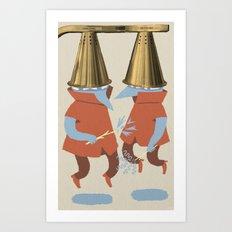 Wizard Battle Art Print