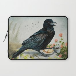 Breakfast With the Raven Laptop Sleeve