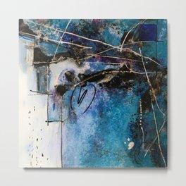 Midnight Sky, Acrylic artwork Metal Print