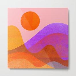 Abstraction_OCEAN_Beach_Wave_Minimalism_001 Metal Print