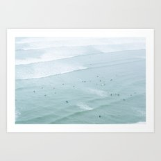Tiny Surfers from the Sky 2, Lima, Peru Art Print