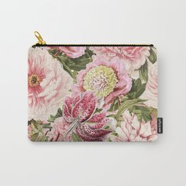 Vintage & Shabby Chic Floral Peony & Lily Flowers Watercolor Pattern Tasche