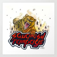 Art Print featuring Squamish Rampage Bear by Eat ▪ Climb ▪ Draw