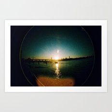 Williamsburg Bridge at Sunset Art Print