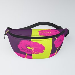Neon Poppies #society6 #poppies Fanny Pack