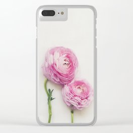Pink Peonies 2 Clear iPhone Case
