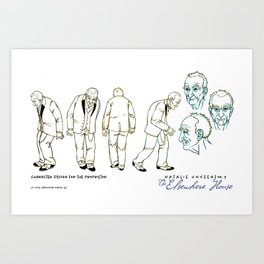No. 3 character design for the Proprietor Art Print