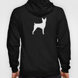 White Toy Fox Terrier Silhouette Hoody