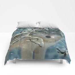 Wolf in Snow - Broken Silence Comforters