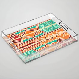 Tribal ethnic geometric pattern 027 Acrylic Tray