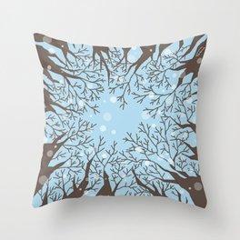 Look up -Winter Throw Pillow