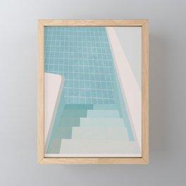 Swimming Pool Summer Framed Mini Art Print