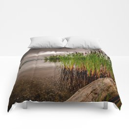 Driftwood And Cattails Comforters