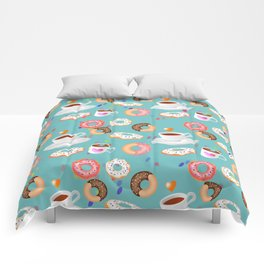 Coffee and Doughnuts Comforters