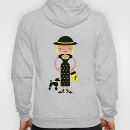 French Chic girl with poodle Hoody