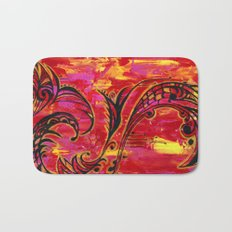 Red and Gold  Bath Mat
