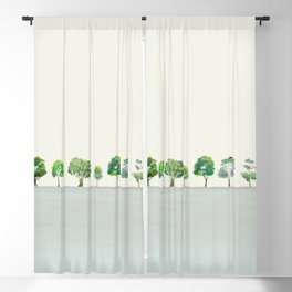 A Row Of Trees Blackout Curtain