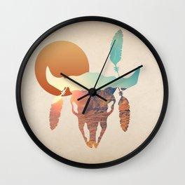 Desert Sunset Wall Clock