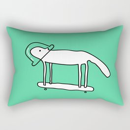 Space Dog Rectangular Pillow