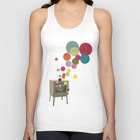 tv Tank Tops featuring Colour Television by Cassia Beck