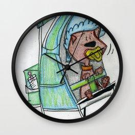 Puppy in a Stroller Wall Clock