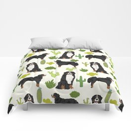 Bernese Mountain Dog cactus - bmd, bernese mountain dog blanket, bernese mountain dog decor, bernese Comforters