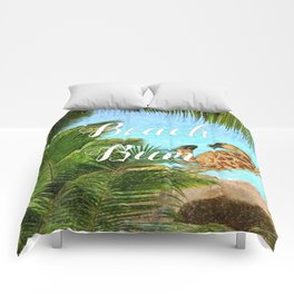 Beach Bum Summer Fun Comforters