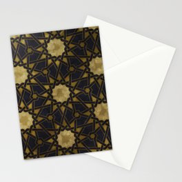 Islamic decorative pattern with golden artistic texture Stationery Cards