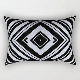 Black and White Tribal Pattern Diamond Shapes Geometric Geometry Contrast II Rectangular Pillow