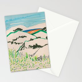 To the beach -Minimalist Landscape Stationery Cards