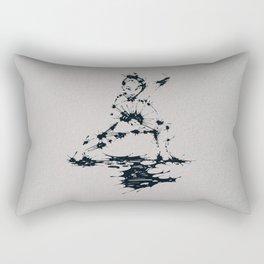 Splaaash Series - Lan Lan Ink Rectangular Pillow