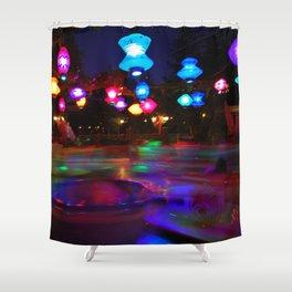 Teacups Blur at Night Shower Curtain