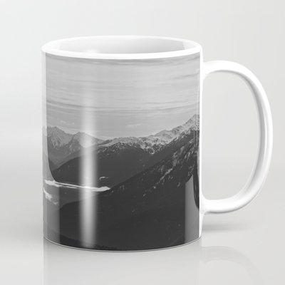 Mountain Landscape Black and W...