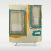 rothko Shower Curtains featuring Soft And Bold Rothko Inspired by Corbin Henry