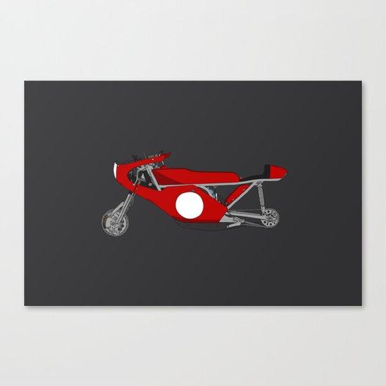 Race Motorcycle Canvas Print