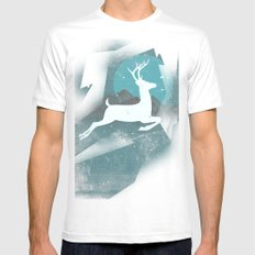 Over The Moon White MEDIUM Mens Fitted Tee