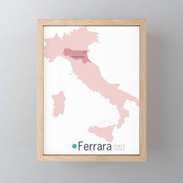 Ferrara, Italy map Framed Mini Art Print