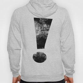 Distressed Black Whee! Exclamation Point Hoody