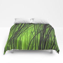 Green grass Comforters