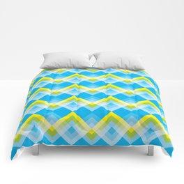 Yellow Green Chevron Comforters