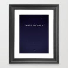 The First Commandment Framed Art Print