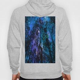Black Trees Teal Purple Space Hoody