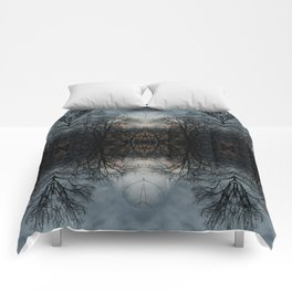 Stained Glass Trees Comforters