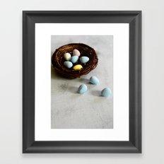 Robin's Eggs and Nest Framed Art Print